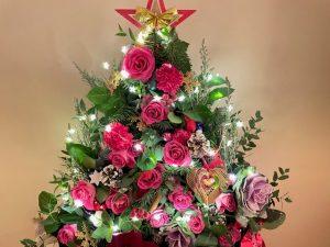 薔薇のクリスマスツリー